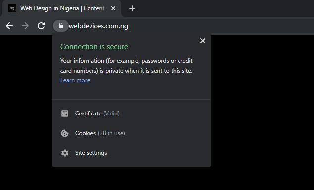 Website SSL Certificate